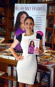 Bethenny Frankel at her book signing for Skinnygirl Solutions