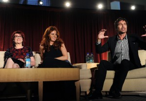 Megan Mullally, Debra Messing, Eric McCormack