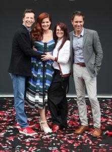 Will & Grace_ Ribbon Cutting Ceremony_Sean Hayes, Debra Messing, Megan Mullally, Eric McCormack